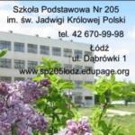 Logo grupy Szkoła Podstawowa Nr 205 im. św. Jadwigi Królowej Polski w Łodzi